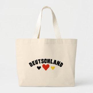 Deutschland Hearts Tote Bag