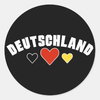 Deutschland Hearts Stickers