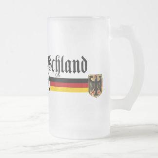 Deutschland large fussball logo mugs