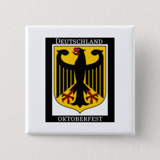 DEUTSCHLAND OKTOBERFEST GERMAN COAT OF ARMS PRINT 15 CM SQUARE BADGE