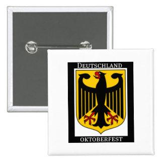DEUTSCHLAND OKTOBERFEST GERMAN COAT OF ARMS PRINT 15 CM SQUARE BADGE
