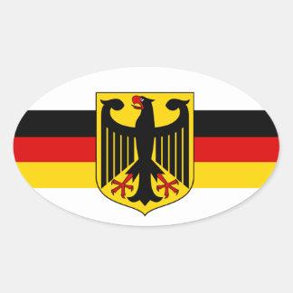 Deutschland soccer fussball #3 oval stickers