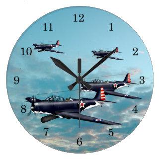 Devastator Torpedo Bomber 1942 Pacific Large Clock