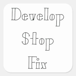 Develop Stop Fix Darkroom Sticker