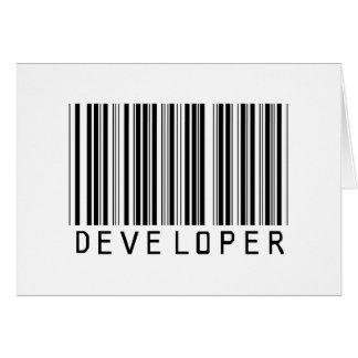 Developer Bar Code Card