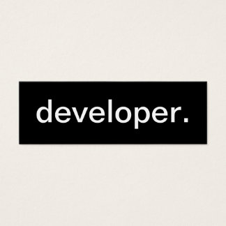 Developer Business Card