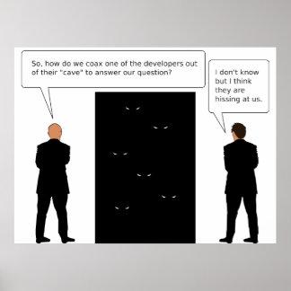 Developer Cave Poster