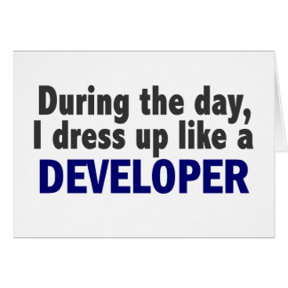 Developer During The Day Cards