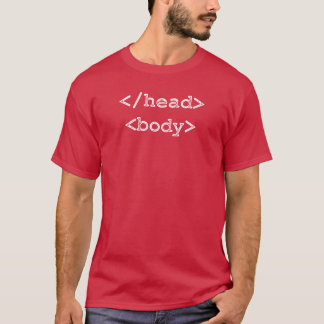 Developer Programmer HTML Head Body T-Shirt
