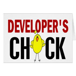 Developer's Chick 1 Greeting Card