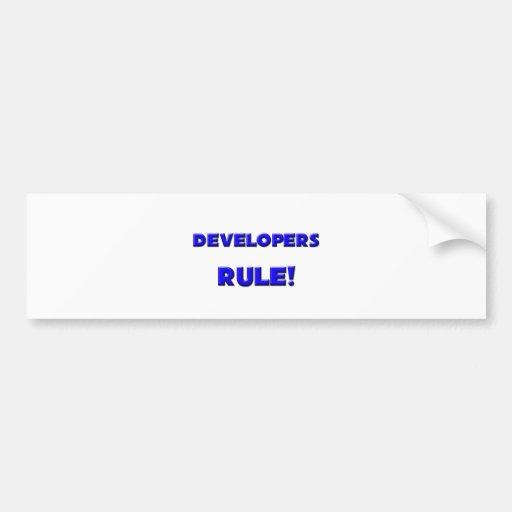 Developers Rule! Bumper Sticker