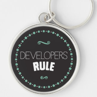 Developers Rule Keychain – Black