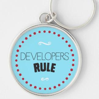 Developers Rule Keychain – Blue