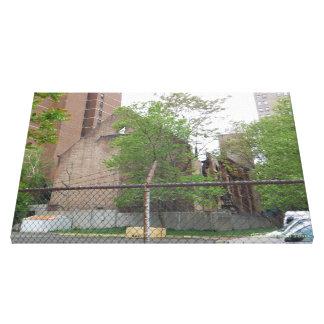 Development Burnt Historical Abandoned Synagogue Canvas Print