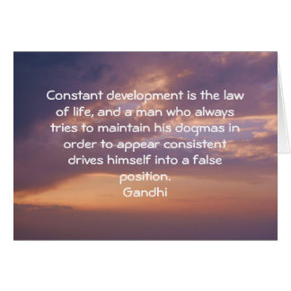 Development Is The Law Of Life Gandhi Wisdom Quote Card