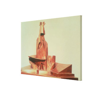 Development of a bottle in space, 1912 (bronze) stretched canvas prints