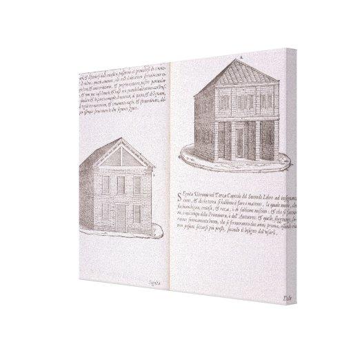Development of Housing, from 'Della Architettura', Gallery Wrap Canvas