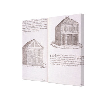 Development of Housing, from 'Della Architettura', Gallery Wrapped Canvas
