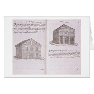 Development of Housing, from 'Della Architettura', Greeting Card