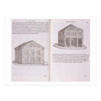 Development of Housing, from 'Della Architettura', Postcard