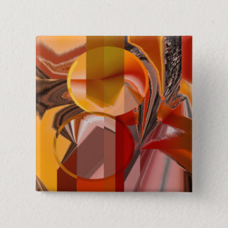 Device Red and Orange Abstract 15 Cm Square Badge