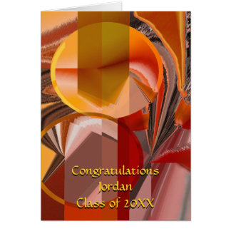 Device Red and Orange Abstract Card