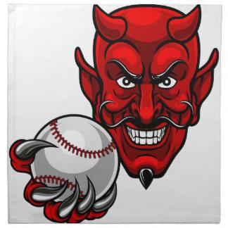 Devil Baseball Sports Mascot Napkin