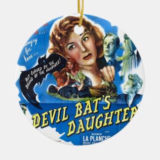 Devil Bat's Daughter, vintage horror movie poster Ceramic Ornament