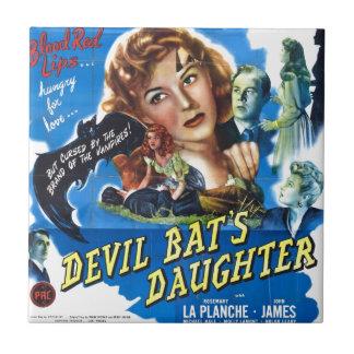 Devil Bat's Daughter, vintage horror movie poster Ceramic Tile