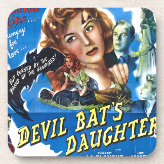 Devil Bat's Daughter, vintage horror movie poster Coaster