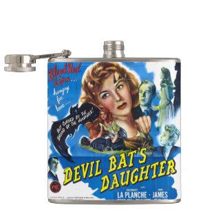 Devil Bat's Daughter, vintage horror movie poster Hip Flask
