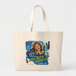 Devil Bat's Daughter, vintage horror movie poster Large Tote Bag