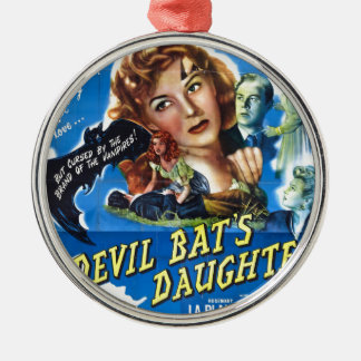 Devil Bat's Daughter, vintage horror movie poster Metal Ornament