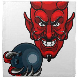Devil Bowling Sports Mascot Napkin