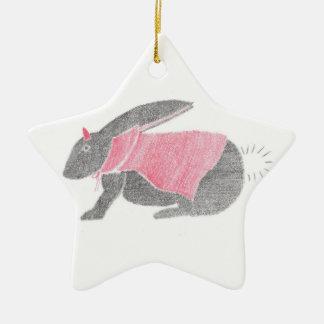 Devil Bunny Ceramic Ornament
