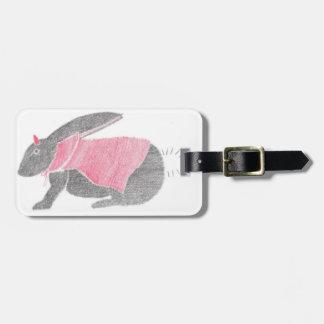 Devil Bunny Luggage Tag