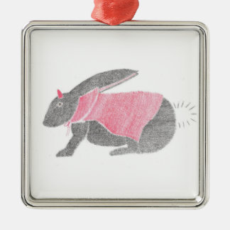 Devil Bunny Metal Ornament
