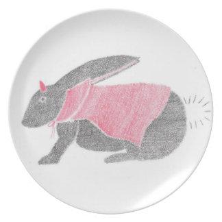Devil Bunny Plate