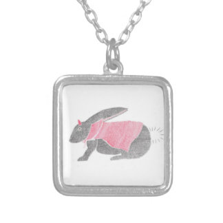 Devil Bunny Silver Plated Necklace