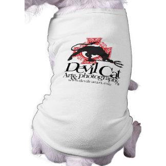 Devil Cat Art Pups Sleeveless Dog Shirt