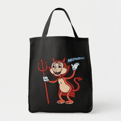 Devil Cat Canvas Bags