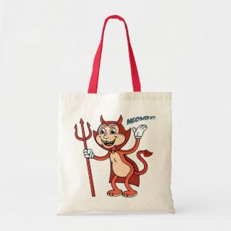 Devil Cat Canvas Bag