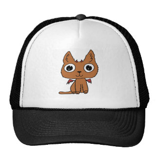 Devil Cat Hand-drawn Cartoon Cute Cap