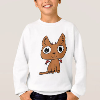 Devil Cat Hand-drawn Cartoon Cute Sweatshirt