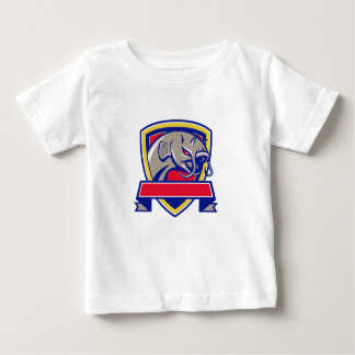 Devil Catfish Head Shield Retro Baby T-Shirt