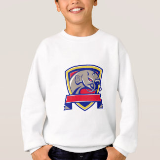 Devil Catfish Head Shield Retro Sweatshirt