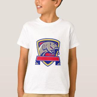 Devil Catfish Head Shield Retro T-Shirt