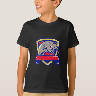 Devil Catfish Head Shield Retro T-Shirt