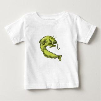 Devil Catfish Jumping Drawing Baby T-Shirt