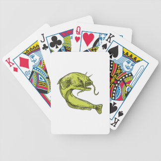 Devil Catfish Jumping Drawing Bicycle Playing Cards